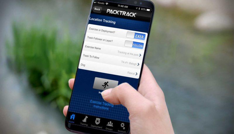 Location Tracking On The PackTrack App